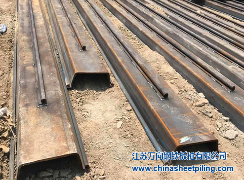 Channel steel sheet pile